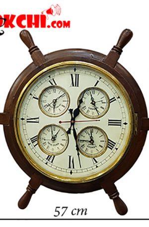 ساعت دیواری چوبی سکان کشتی